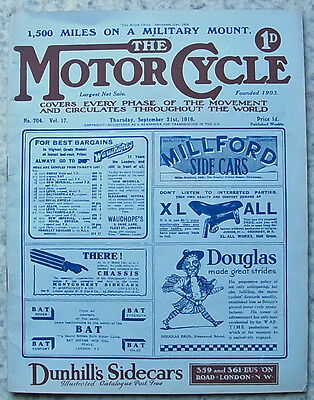 The MOTOR CYCLE Magazine 21 September 1916  1,500 Miles 1916 Triumph Report