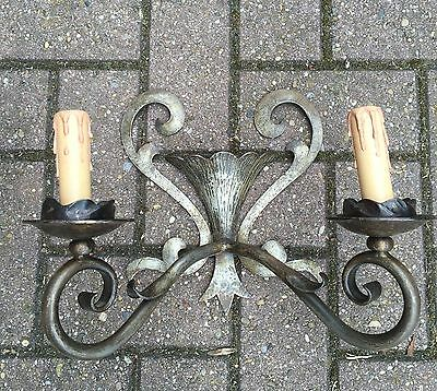 Pair of French Wrought Iron Wall Sconces