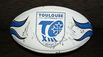 Signed toulouse olympique Rugby League Ball