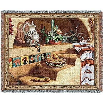 Southwest Still Life Woven Art Tapestry Throw Made in USA