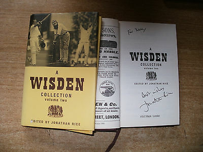 Signed Book-A Wisden Collection 2-Jonathan Rice