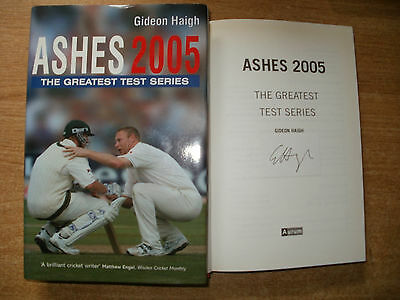 Signed Book-Ashes 2005-Gideon Haigh