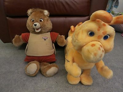 Teddy Ruxpin AND Grubby World of Wonders 1985 Vintage