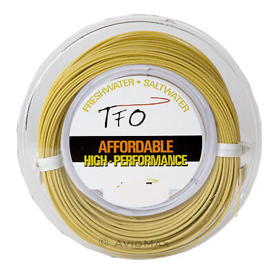 TFO Temple Fork & Cortland Weight Forward  Floating Fly Fishing Line Light Olive