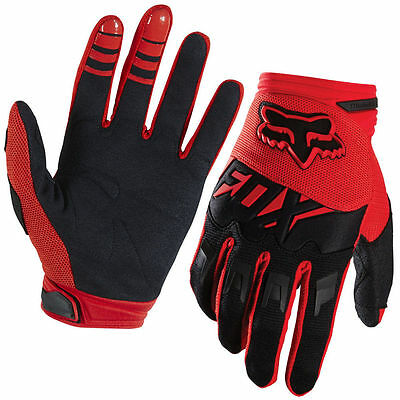 FOX Dirtpaw Race Gloves Red Size Mens LARGE