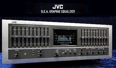 Vintage Equalizer JVC SEA-80 Stereo 2x 10 Band EQ S.E.A. Sound Effect Amplifier