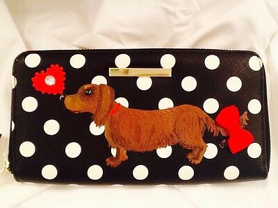 ������Dachshund Dog Hand Painted Wallet Handbag Purse artbyuta
