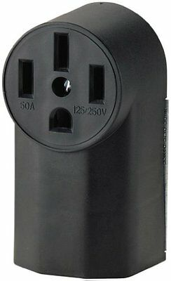 Eaton WD1212 50-Amp 3-Pole 4-Wire 125-Volt Surface Mount Range Power Receptacle,