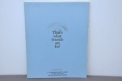 That's What Friends Are For Arista Records 15th Anniversary Concert Program Book