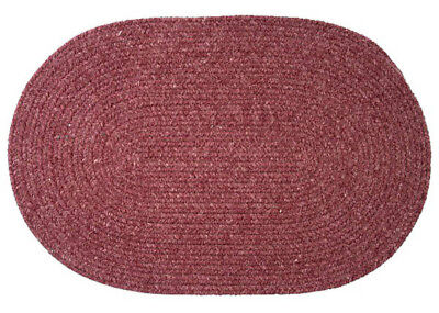 Bristol Wool Blend Oval Braided Rug, Mauve WL29 ~ Made in USA