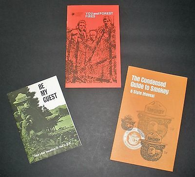 3 Smokey Bear Booklets--  1968, 1980, 1995    New Condition