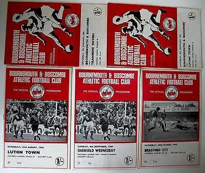 Bournemouth & Boscombe Athletic. 1968/69 & 69/70 Div. 3 - 5 Assorted Programmes.