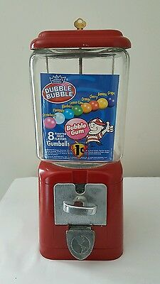 Vintage One Cent PEANUT GUMBALL MACHINE UNIVERSAL VENDORS OF ST. LOUIS MO w/Key