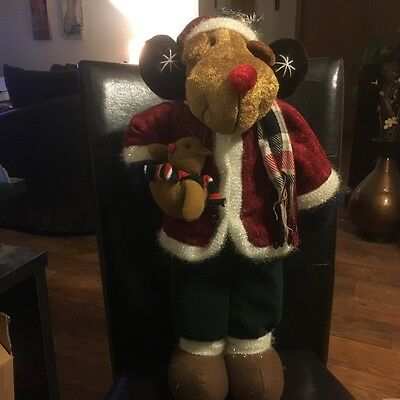 Christmas Moose-Stands-22'' Inches Tall-Excellent Condition