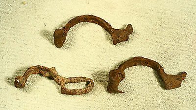 ANTIQUE ANCIENT 3 pcs ROMAN Iron MILITARY LEGIONARY Crossbow Fibula ARTIFACT auc