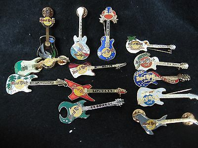 13 Hard Rock Cafe Pins & Tie Tacks