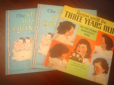 3 books on the Dionne Quintuplets