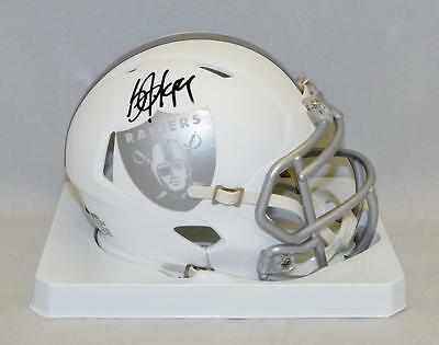 Bo Jackson Autographed Oakland Raiders ICE Alternate Mini Helmet- JSA W Auth