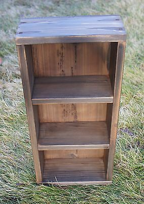 Antique or Primitive looking Wooden Parts Bin Shelf  Rustic Shabby Farmhouse