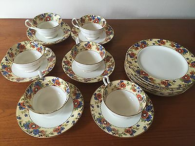 Aynsley pattern #4509 set of six cups and saucers and six dessert plates