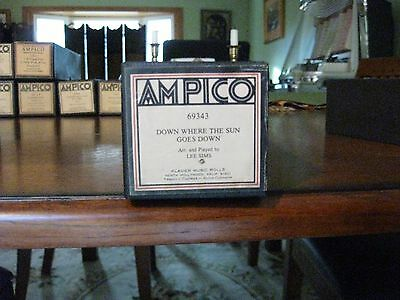 Down Where The Sun Goes Down Played By Lee Sims  Ampico Re-Cut Piano Roll