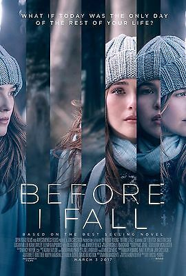 Before I Fall 2017 Original DS 27 x 40 Movie Poster! HOT!!!!!