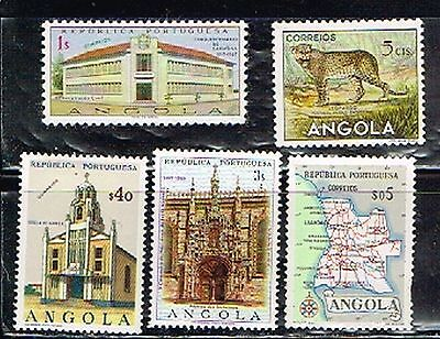 (13-818) 5 Unpostmarked  Postage sTamps from Angola