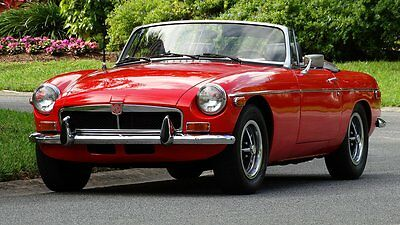 1974 Mg Mgb Factory 1974 Mgb With Over Drive Convertible Classic Body Style With Chrome Bumpers