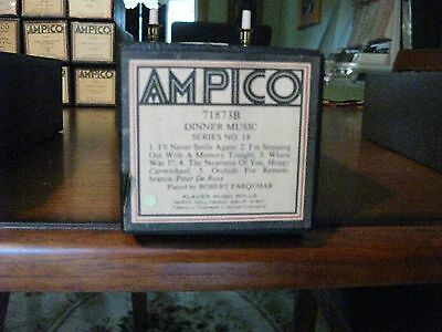 Dinner Music 18 I'll Never Smile Again + Four More Ampico Re-Cut Piano Roll