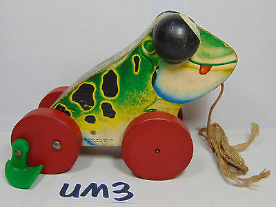 Vintage FISHER PRICE #450 JOLLY JUMPER Wooden Pull Toy USA Made