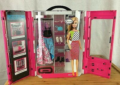 NEW Barbie Fashionistas Ultimate Closet For girls pink toy shoes storage