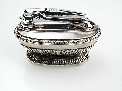 Vintage Antique Old Ronson Silver Plated Table Rare Lighter