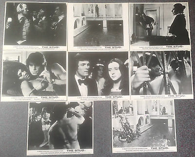 SET OF 8 ORIGINAL LOBBY CARDS THE STUD Joan Collins