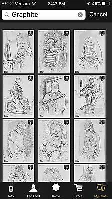 Topps The Walking Dead Card Trader Sketch Graphite Complete Set Award Ready