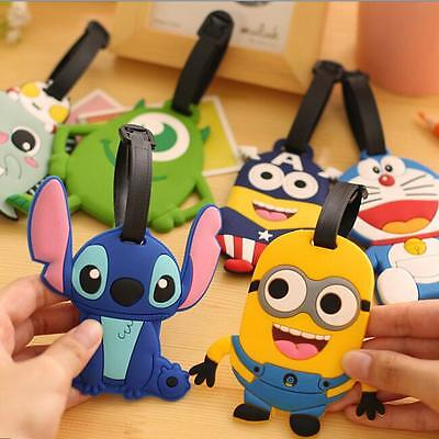 Cute Cartoon Luggage Baggage Tags Labels Silicone Name Address Suitcase Travel