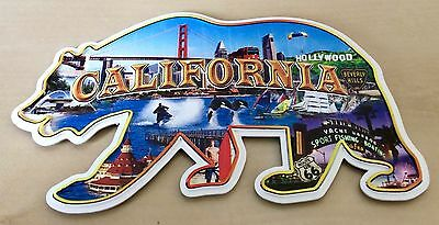 Greetings from California Golden State Land Marks Fridge Magnet Travel Souvenirs