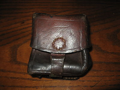 Romanian military surplus leather single ammo pouch 1957