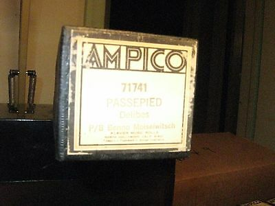 Passepied Delibes Played By Moiseiwitsch Ampico Re-Cut Small Roll