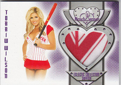 2016 Benchwarmer Eclectic Collection Torrie Wilson Authentic Swatch Card
