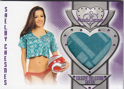 2016 Benchwarmer Eclectic Collection Shelby Chesnes Authentic Swatch Card