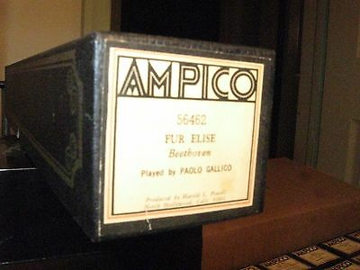 Fur Elise By Beethoven Ampico Re-Cut Small Roll