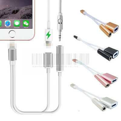 2 in 1 3.5mm Audio Headphone Jack Adapter Charger Cable For iPhone 7 / 7 Plus