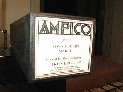 Toy Soldier's March P/b Composer Fritz Kreisler Ampico Re-Cut Small Roll