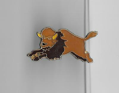Vintage American Buffalo Bison on the Run old enamel pin
