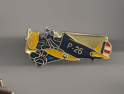 Vintage P-26 Peashooter Fighter Aircraft b2 old enamel pin