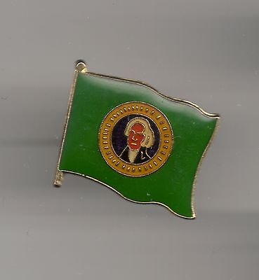 Vintage Washington State Flag old enamel Pin