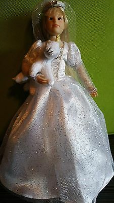 Only Hearts Club Doll ~ Karina Grace Dressed In a Bride white gown and her pet.