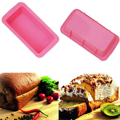 Silicone Bread Loaf Cake Mould Non Stick Bakeware Baking Pan Oven Rectangle Mold