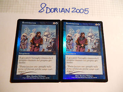2x MTG FOIL Reminiscenza-Reminisce Magic EDH ONS Assalto Onslaught ITA Italiano
