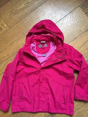 Srd) Girls Regatta Jacket With Detachable Pink Fleece 9/10 Years
